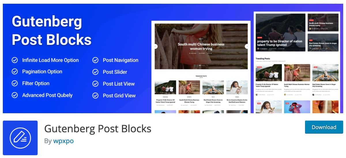 Gutenberg Post Blocks