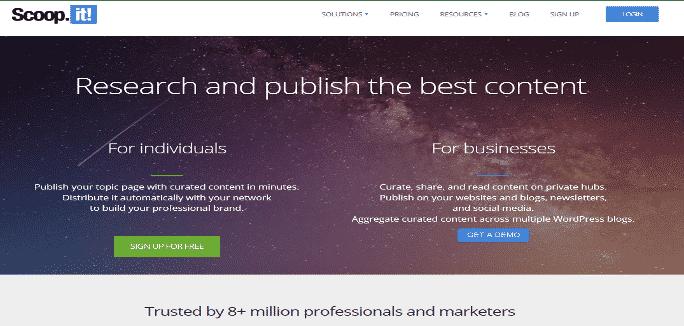Scoopit - curation de contenu
