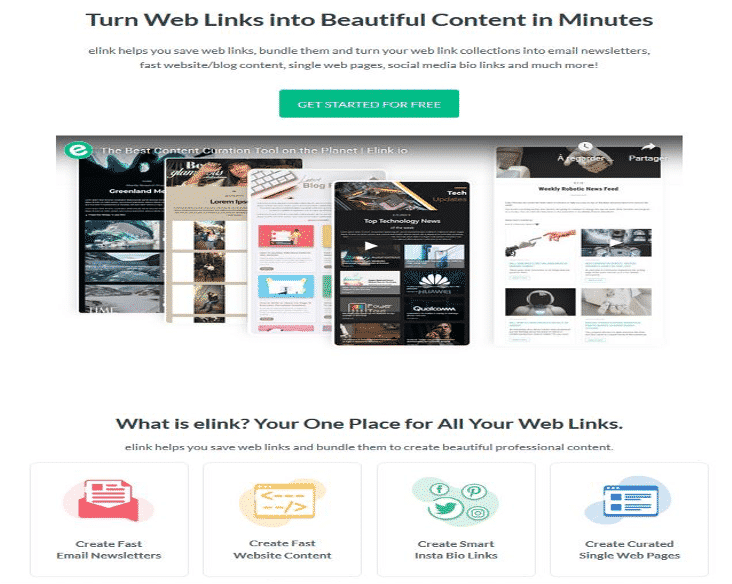 Newsletter + Curation de contenu