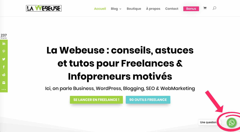 Whatsapp Sur Blog WordPress