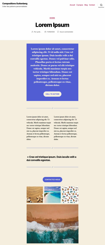 Modele Article Gutenberg