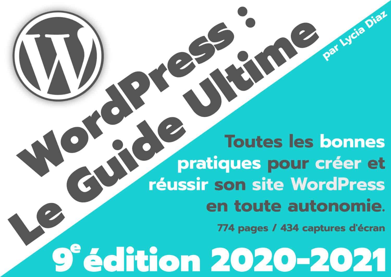 Couverture Ebook WordPress 2020-2021 en PDF