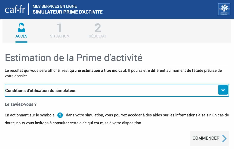 Simulateur Prime Activité Freelance