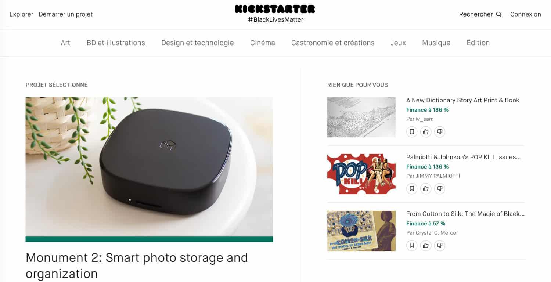 Plateforme Kickstarter