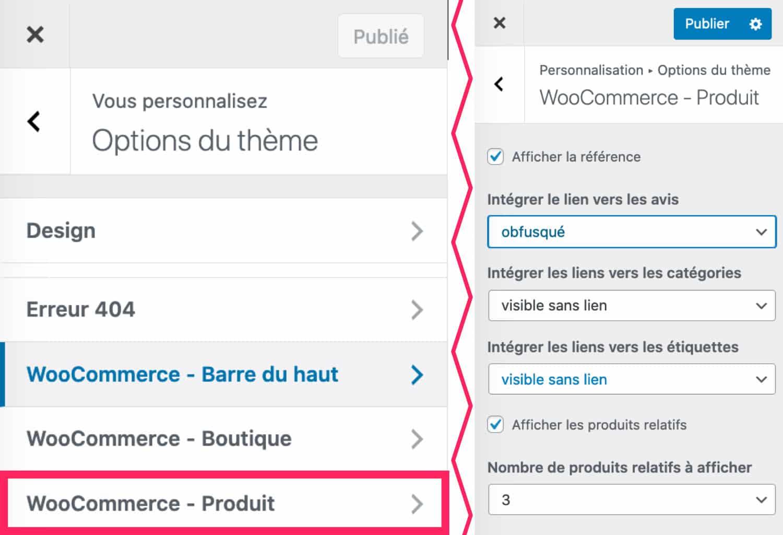 Option WooCommerce - Page Produit