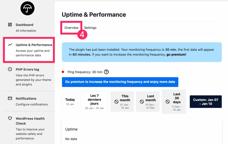 Uptime & Performance WP Umbrella