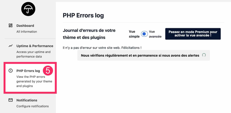 PHP Errors Logs