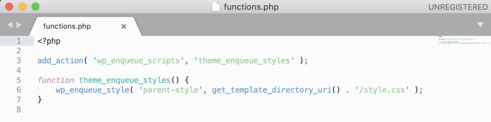 Fichier functions.php