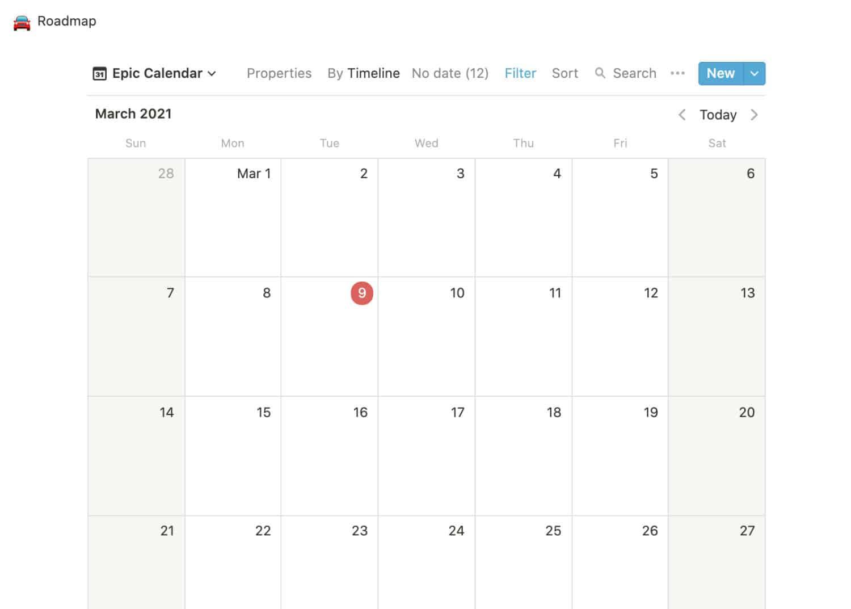 Block Calendar Inline