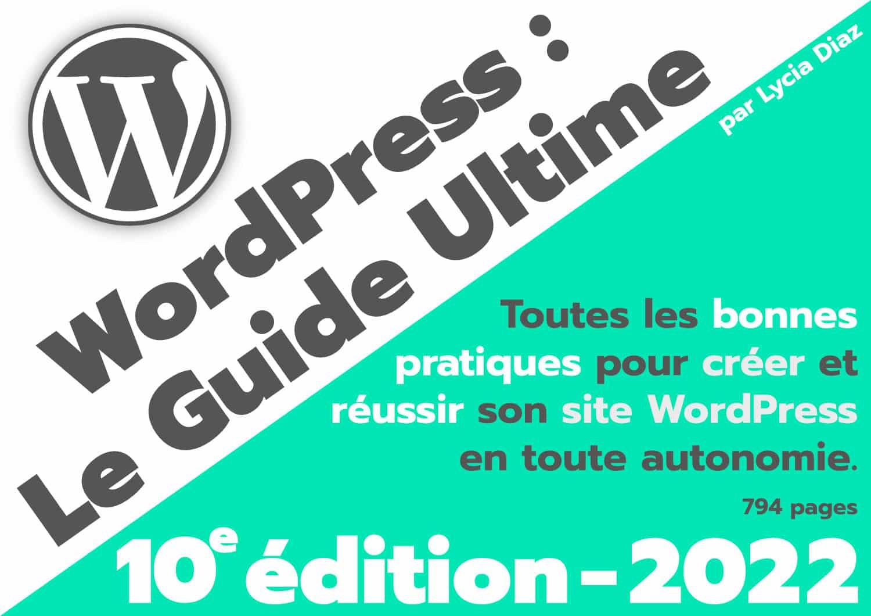 couverture ebook WordPress PDF 2022