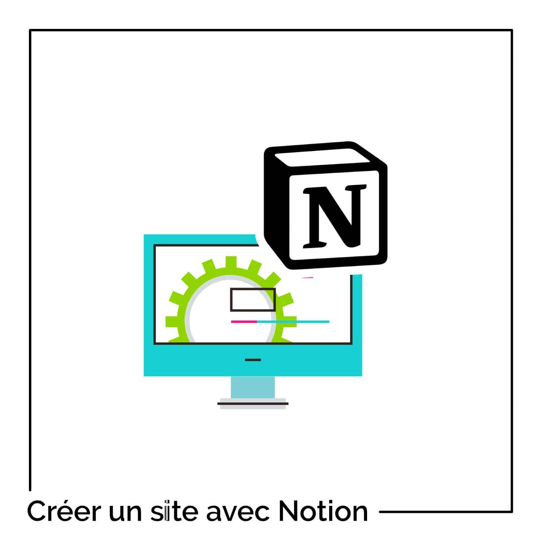 créer un site web avec Notion
