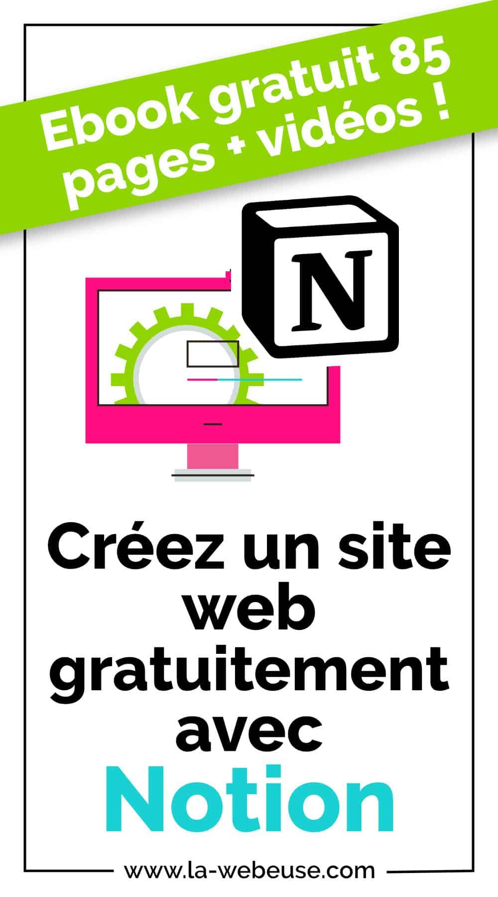site web gratuit avec notion