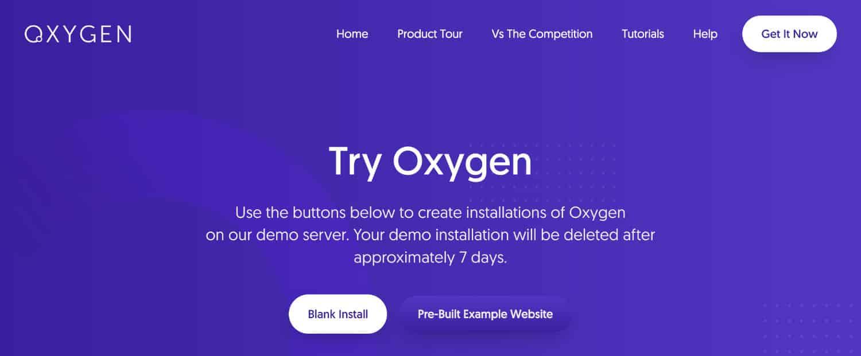 Site de test pour Oxygen
