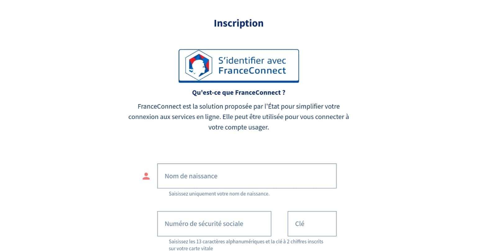 S'identifier avec France Connect