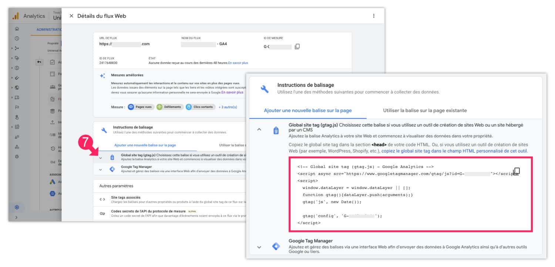 Script gtag.js de Google Analytics 4