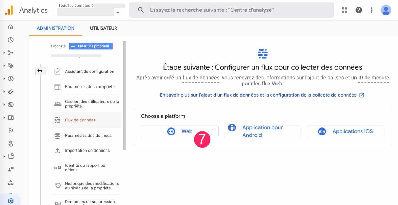 Configurer un flux Google Analytics