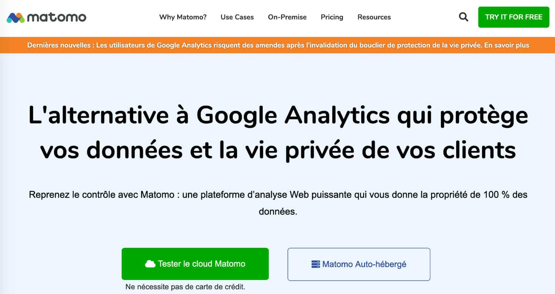 Matomo alternative Google Analytics