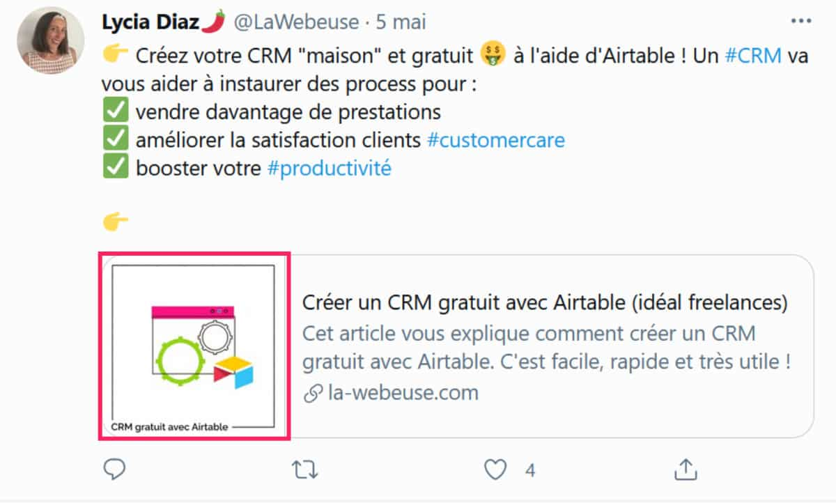 Taille image Twitter Cards