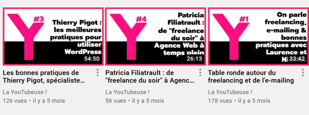 taille image miniature youtube