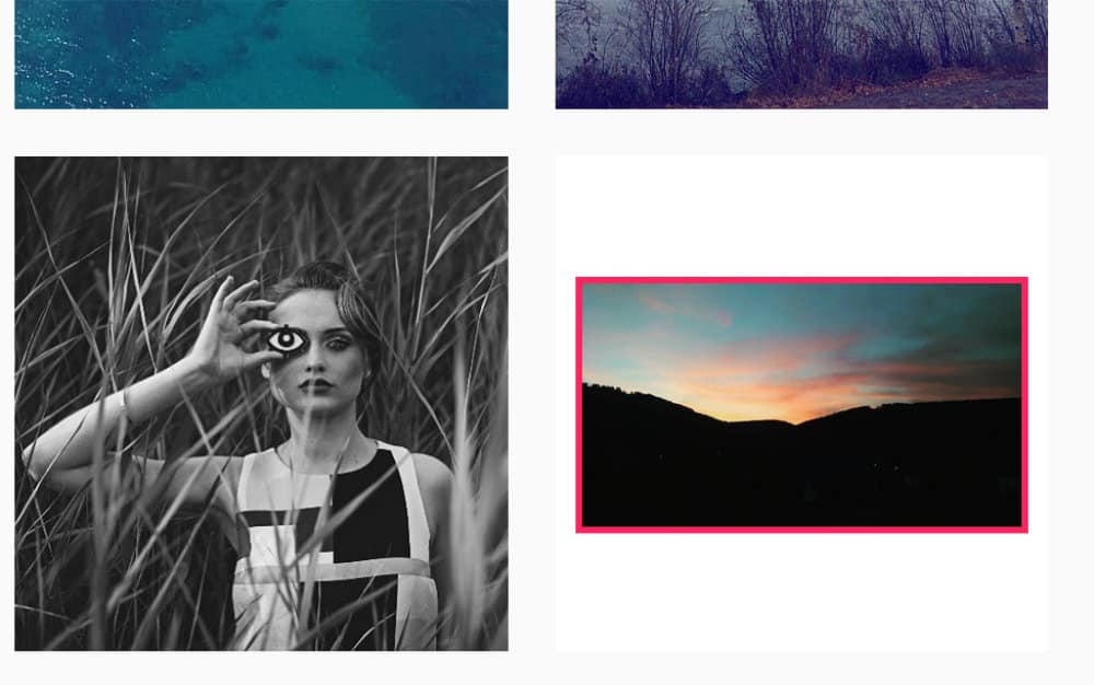 Taille image post paysage Instagram