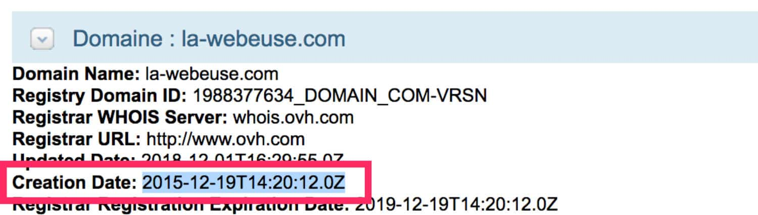 information whois