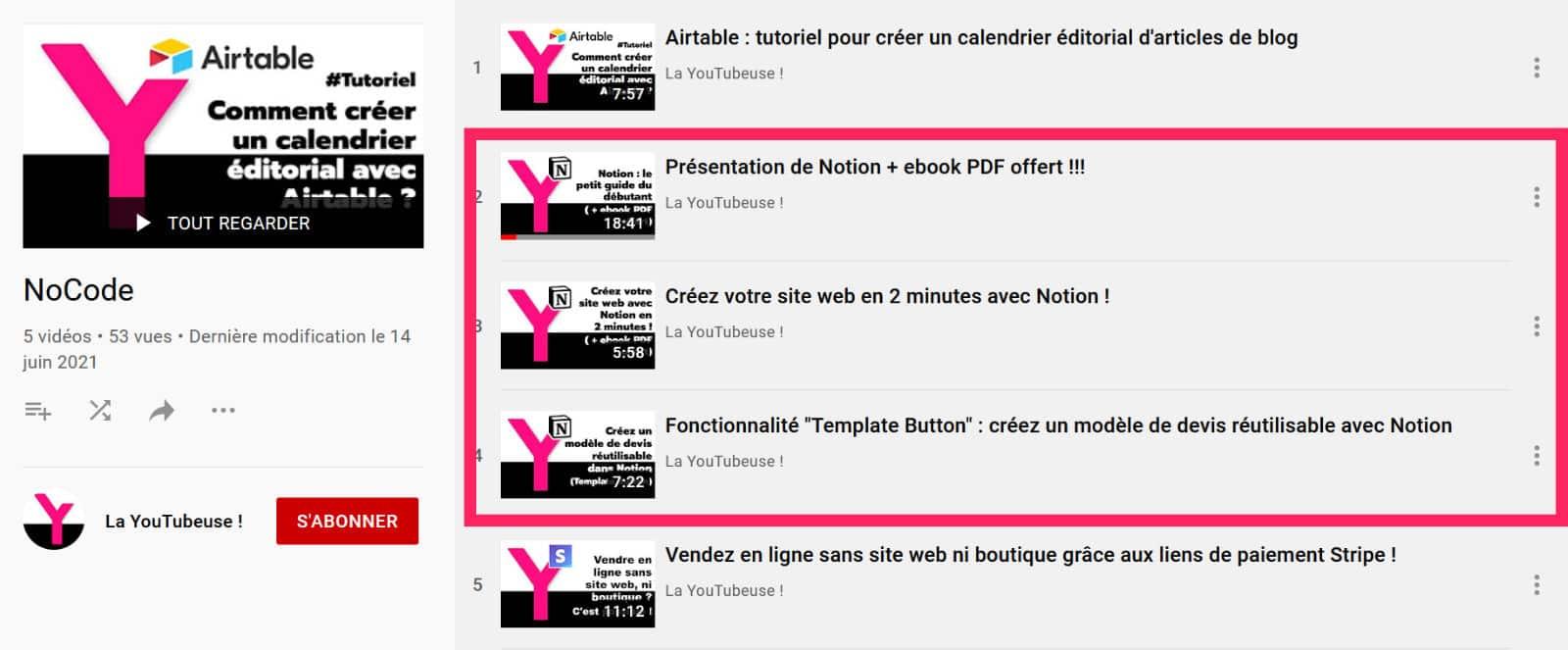 Chaine YouTube Notion La Webeuse
