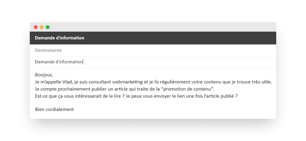 Email d'annonce