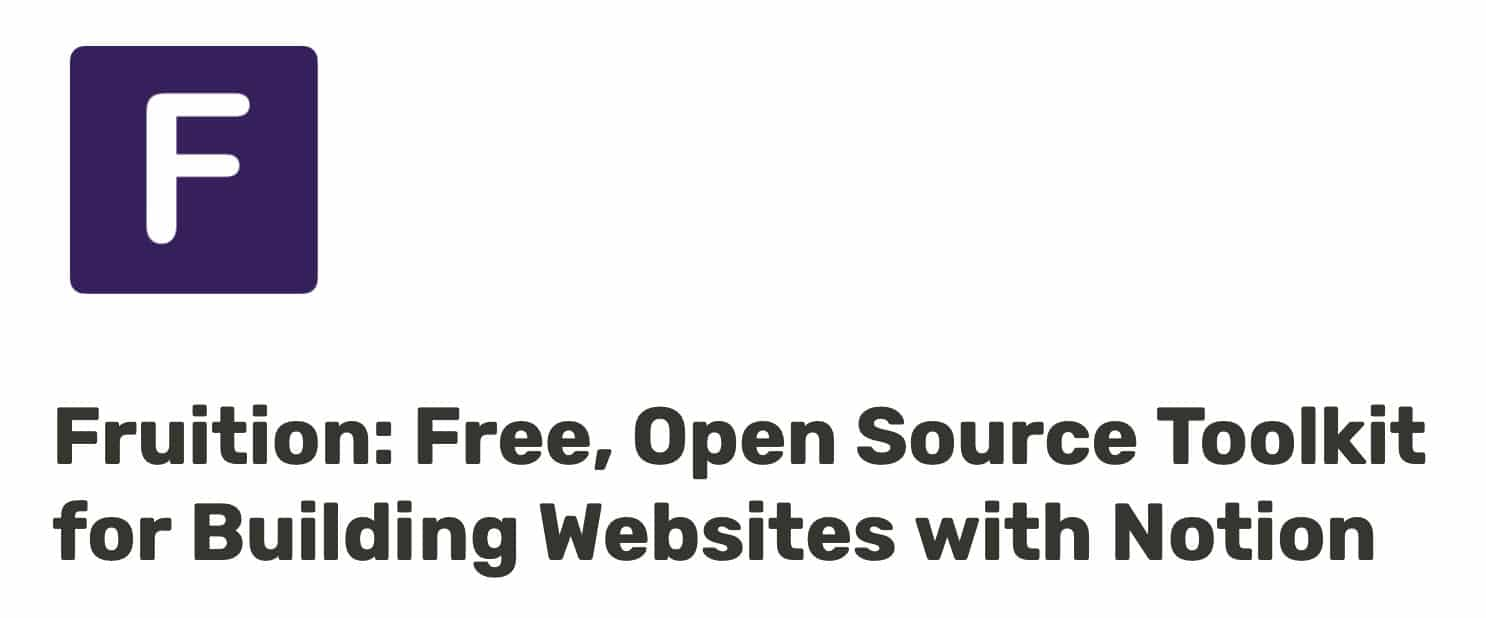 Fuitionsite - site gratuit Notion
