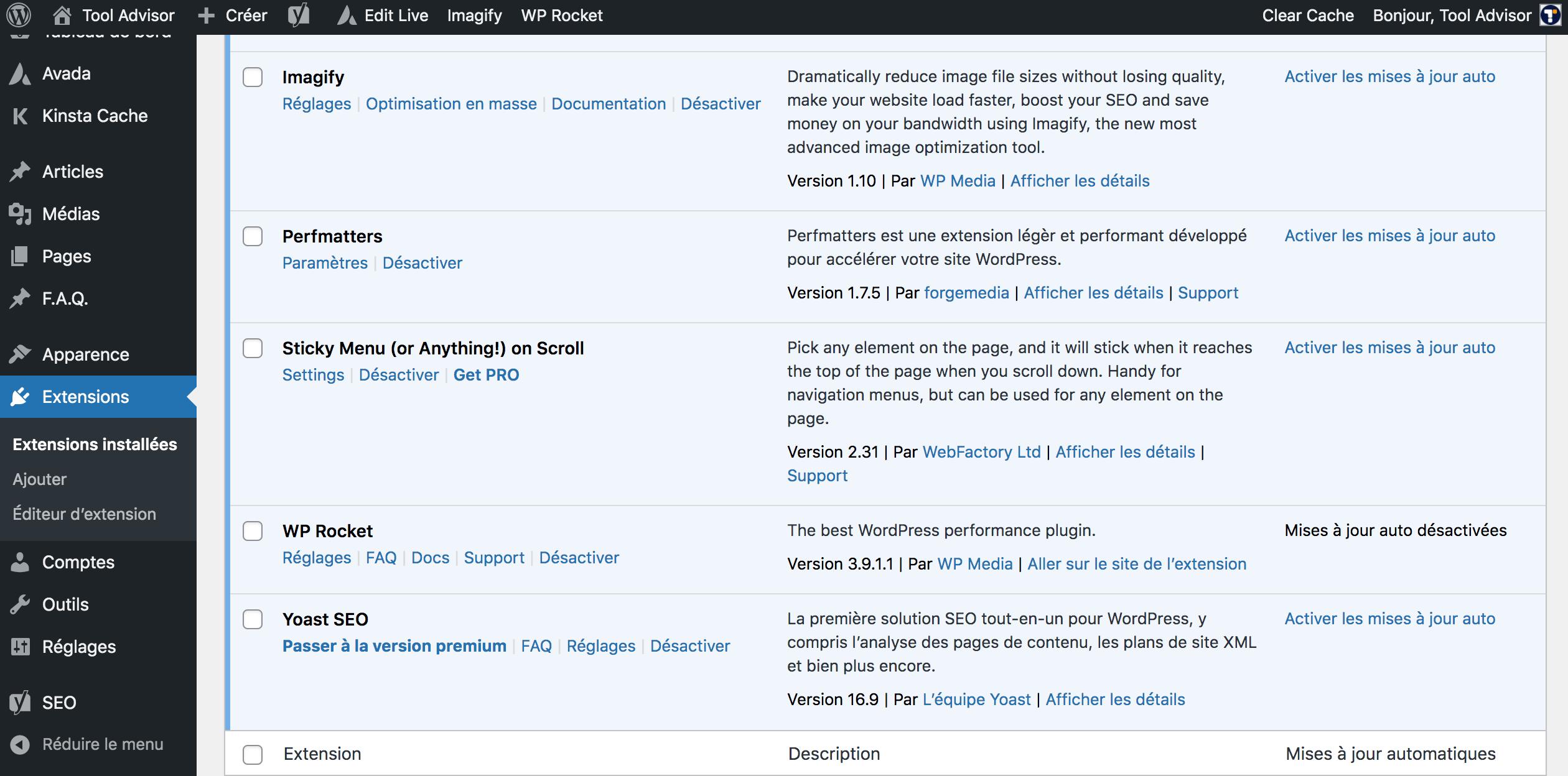 MAJ WordPress Plugin